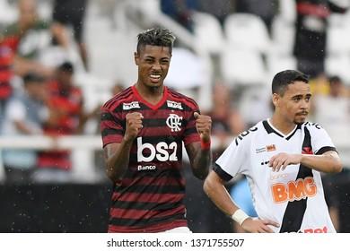 Rio de Janeiro, Brazil, April 14, 2019. Football player Bruno Henrique of the Flamengo team, during the match Vasco x Flamengo for the Campeonato Carioca in the Maracanã stadium.