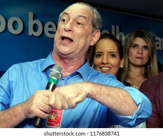 Rio de Janeiro, Brazil  August  03, 2018   Brazilian presidential candidate Ciro Gomes delivers a speech during a rally