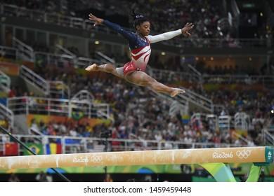 Rio de Janeiro - Brazil, August 10, 2016, USA  athlete of artistic gymnastics  Simone Biles