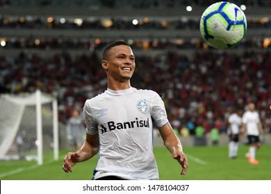 Rio de Janeiro, Brazil, August 10, 2019. Football player of the Grêmio team, during the Flamengo x Grêmio match for the Brazilian Championship in Maracanã stadium.
