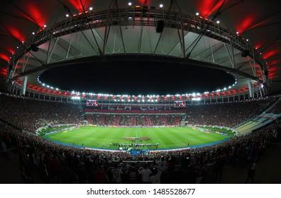 Rio de Janeiro, Brazil, August 21, 2019. Maracanã Stadium full of Flamengo fans before Flamengo x Internacional, for the Copa Libertadores of America.