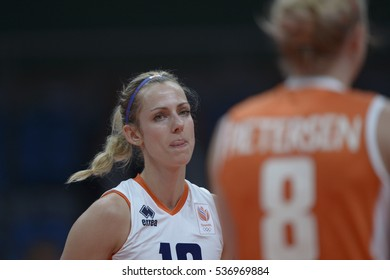 Rio de Janeiro, Brazil - august 06, 2016:  STAM-PILON (NED) during volleyball game China (CHN) vs Nederland (NED) in maracanazinho in the Olympics Rio 2016 by the group phase