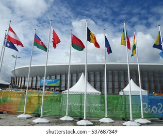 RIO DE JANEIRO, BRAZIL - AUGUST 12, 2016: Carioca Arena 3 at the Olympic Park in Rio de Janeiro. The venue hosted taekwondo and fencing at the 2016 Summer Olympics