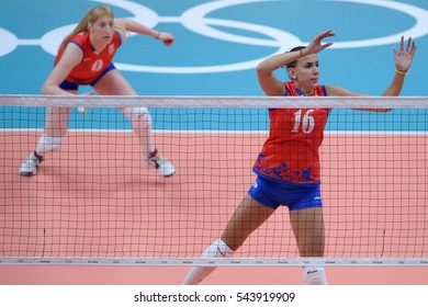 Rio de Janeiro, Brazil - august 06, 2016: RASIC Milena (SRB) during volleyball game Serbia (SRB) vs Italy (ITA) in maracanazinho in the Olympics Rio 2016 by the group phase