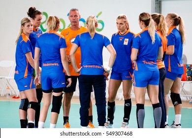 Rio de Janeiro, Brazil. August 2, 2016. Training of Netherlands women team in Barra Olympic Park prior start of the the Olympic Games 2016.