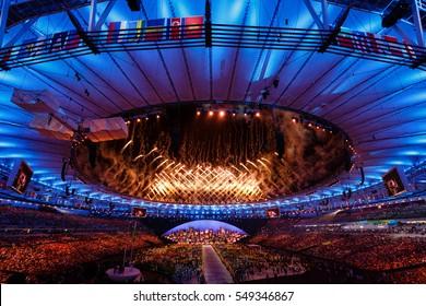 Rio de Janeiro, Brazil. August 6, 2016. Opening ceremony of 2016 Summer Olympic Games in Rio De Janeiro.