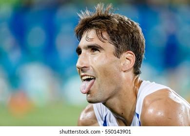 Rio de Janeiro, Brazil. August 18, 2016. MODERN PENTATHLON - MEN'S COMBINED RUNNING/SHOOTING at the 2016 Summer Olympic Games in Rio De Janeiro.  David Svoboda (CZE)