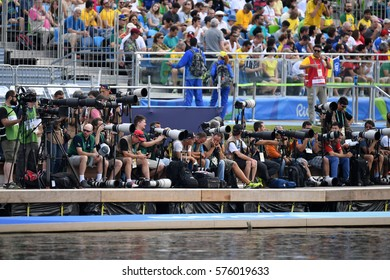 Rio de Janeiro- Brazil August 11, 2016- work of sports photographers during the 2016 Olympics