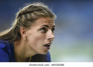 Rio de Janeiro, Brazil - august 16, 2016: Runner BEKH Maryna (UKR) during women Long Jump in the Rio 2016 Olympics Games