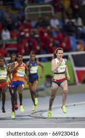 Rio de Janeiro, Brazil - august 16, 2016: Runner Laura Muir (GBR) during 1500m Women run in the Rio 2016 Olympics
