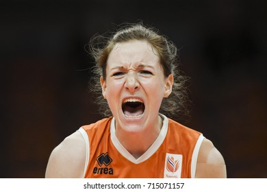 Rio de Janeiro, Brazil - august 20, 2016: SLOETJES Lonneke (NED) during women's Volleyball,match Nederland and USA in the Rio 2016 Olympics Games
