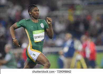 Rio de Janeiro, Brazil - august 20, 2016: SEMENYA Caster (RSA) during women's 800m in the Rio 2016 Olympics Games