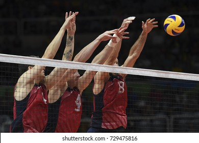 Rio de Janeiro, Brazil - august 21, 2016: Lee during men's Volleyball,match Russia and USA in the Rio 2016 Olympics Games