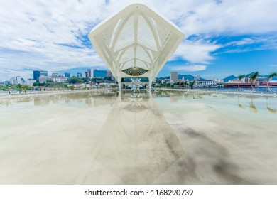Rio de Janeiro, Brazil - December 13, 2015: The sustainable Museum of Tomorrow in Rio de Janeiro was opened just before the Rio2016 Olympic Games