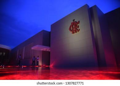 Rio de Janeiro - Brazil December 08, 2018, inauguration of the new soccer training center of the Flamengo Club, in the Urubu's Nest in the western zone of the city of Rio de Janeiro