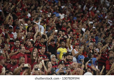 Rio de Janeiro - Brazil December 02, 2018, images of Flamengo fans during soccer matches at the Maracanã stadium
