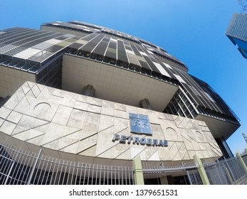 RIO DE JANEIRO BRAZIL - DECEMBER 20, 2017: Petrobras headquarters in Rio de Janeiro, state oil company in Brazil.