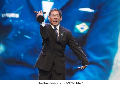 Rio de Janeiro, Brazil - december 07, 2016:  Sergio Oliva  winner in the equestrianism category of the Paralympic wards that takes place in Vivo Rio.