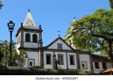 Rio de Janeiro, Brazil, December 19, 2016: Benedictine monastery of St. Benedict, founded in 1590 is one of the religious tourist attractions in downtown Rio.