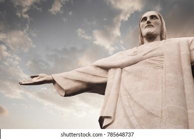 Rio de Janeiro, Brazil - December 20, 2017: Christ the Redeemer (Cristo Redentor) statue in Rio de Janeiro, Brazil