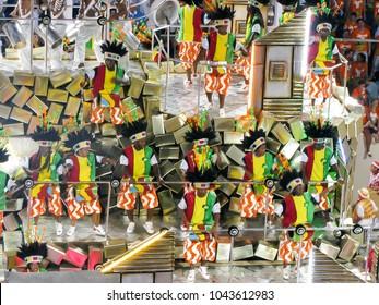 Rio de Janeiro, Brazil - February 23: amazing extravaganza during the annual Carnival in Rio de Janeiro on February 23, 2009