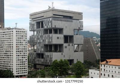 Rio de Janeiro, Brazil, February 18, 2019. View of the Petrobras building in the center of the city of Rio de Janeiro.