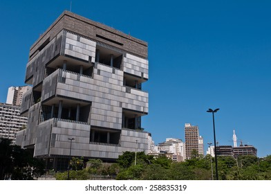 RIO DE JANEIRO, BRAZIL - FEBRUARY 21, 2015: Petrobras Headquarters Building in downtown Rio de Janeiro. Petrobras is oil and gas industry giant in Brazil.