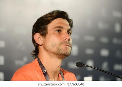 RIO DE JANEIRO, Brazil - february 15, 2016: David Ferrer during a press conference at the championship Tennis Rio Open