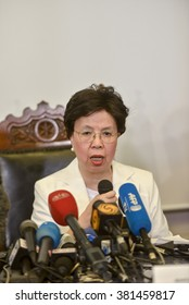RIO DE JANEIRO, BRAZIL - february 24, 2016:  Director of the World Health Organization (WHO) Margaret Chan during a press conference to talk about the Zika virus
