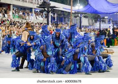 RIO DE JANEIRO, Brazil - february 27, 2017: Samba school parade Beija Flor during the 2017 carnival in Rio de Janeiro at Sambodromo (Marques de Sapucai).