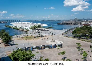 Rio de Janeiro, Brazil - January 4, 2017, Museum of Tomorrow (Tomorrow Museum), designed by Spanish architect Santiago Calatrava, in Rio de Janeiro
