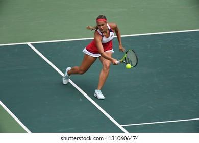 Rio de Janeiro - Brazil, January 10, 2018, MONICA PUIG playing tennis at Rio Open, in the city of Rio de Janeiro