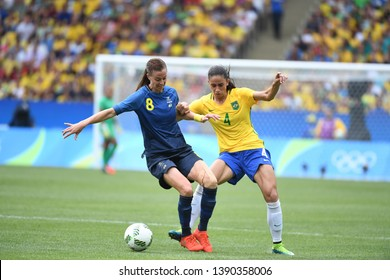 Rio de Janeiro - Brazil, July 10, 2018, Brazilian women's soccer team against the women's team of Sweden in the Maracanã Stadium