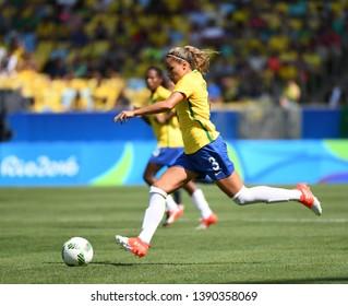 Rio de Janeiro - Brazil, July 10, 2018, Brazilian women's soccer team against the women's team of Sweden in the Maracanã Stadium