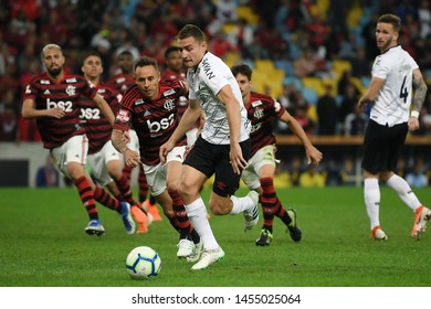 Rio de Janeiro, Brazil, July 17, 2019. Soccer player Marco Ruben of the Athlético-PR team, during the Flamengo vs. Atlhético-PR match for the Brazil Cup at the Maracanã stadium.