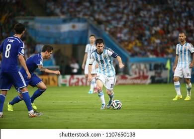 Rio de Janeiro - Brazil, June 20 2014 Argentina  and Bosnia 2014 World Cup soccer match at the Maracanã stadium in Rio de Janeiro