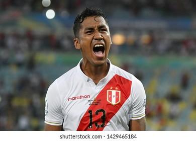 Rio de Janeiro, Brazil, June 18, 2019. Soccer player Tapia Cortijo of the soccer team Peru during the game Bolivia vs Peru for the Copa America 2019 in the Maracanã stadium.