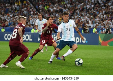 Rio de Janeiro, Brazil, June 28, 2019. Soccer player Dybala from Argentina, during the Venezuela vs Argentina match for the Copa América 2019 at the Maracanã Stadium.