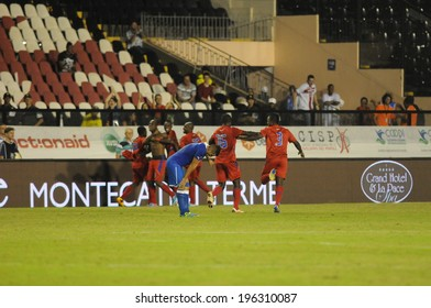 Rio de Janeiro, Brazil, June 20, 2013 - training game between the Italian national team and national team of Haiti in the stadium club Vasco da Gama in Rio de Janeiro
