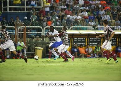 RIO DE JANEIRO, BRAZIL � June 8, 2014: Italy vs. Fluminense at the Cidadania Stadium in Volta Redonda, in a final warm-up match prior to the 2014 World Cup tournament. No Use In Brazil.