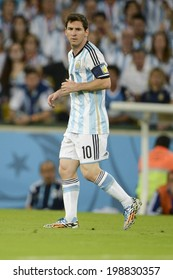 RIO DE JANEIRO, BRAZIL - June 15, 2014: Lionel MESSI during the 2014 World Cup Group F game 2014 World Cup Group F game between Argentina and Bosnia at Maracana Stadium.