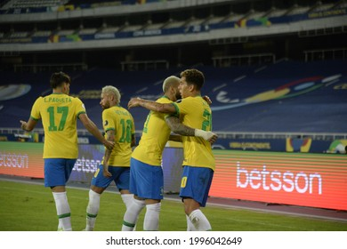 Rio de Janeiro- Brazil June 23, 2021, Copa America match between Brazil and Colombia at Nilton Santos stadium