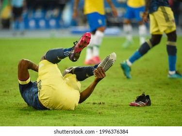 Rio de Janeiro, Brazil - June 23, 2021 Brazil v Colombia, Copa America 2021, Group B, Football, Nilton Santos Stadium,  during a Group B match between Brazil and Colombia as par