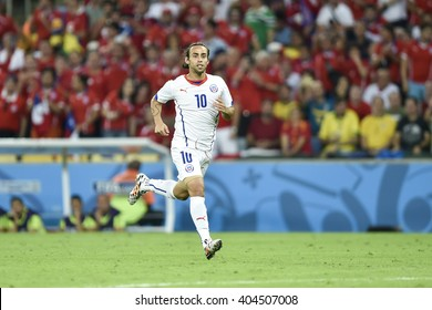 RIO DE JANEIRO, BRAZIL - June 18, 2014: Jorge VALDIVIA of Chile during the FIFA 2014 World Cup. Spain is facing Chile in the Group B at Maracana Stadium