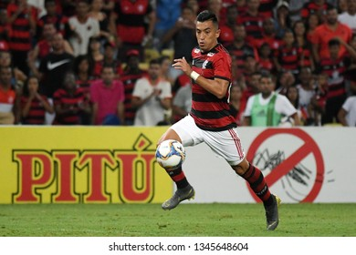 Rio de Janeiro, Brazil, March 16, 2019. Football player Uribe of the Flamengo team during the game Flamengo X Volta Redonda by the Carioca championship in the stadium of the Maracanã