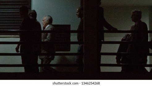 Rio de Janeiro, Brazil - March 22, 2019: Former Brazilian President Michel Temmer arrives at the Federal Police headquarters after to be arrested due a bribe scandal