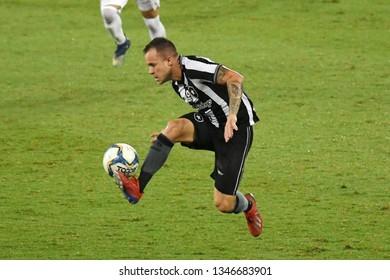Rio de Janeiro, Brazil, March 21, 2019. Soccer player Gustavo Ferrareis of the Botafogo team, during the game Botafogo vs. Portuguesa by the Caroca Championship in the Estadio Engenhão.