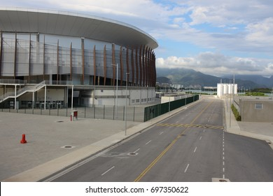 Rio de Janeiro, Brazil, March 25, 2017: Rio 2016 Olympic Park after Olympic Games has been transformed into a leisure area. The outer area and its sports facilities are open to public visitation.