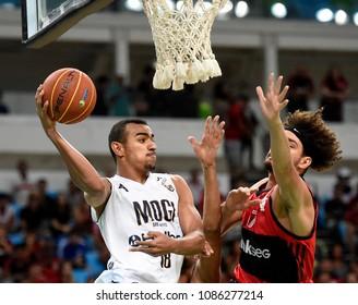 Rio de Janeiro - Brazil, May 7, 2018, basketball game of the national basketball league of Brazil NBB, between the teams of Flamengo and Mogi.