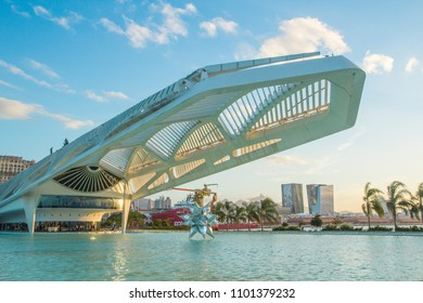 RIO DE JANEIRO, BRAZIL - May 29, 2018: Museum of Tomorrow in front of the new Maua Square, Downtown of Rio de Janeiro